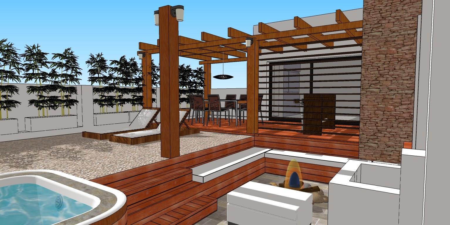 Estructuras de madera espanol for Como hacer una terraza techada
